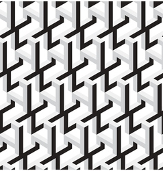 3D Abstract Geometric Seamless Pattern vector