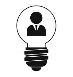 Admin idea bulb icon simple style vector
