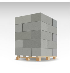 Aerated foam concrete blocks isolated foam vector