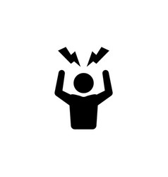 Angry person icon frustrated anger man stress vector