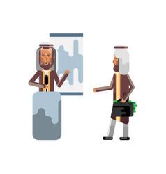 arabic speaker doing business presentation vector image