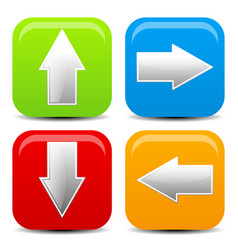 Arrow icons in all direction up down left right vector