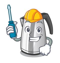 Automotive mascot cartoon household kitchen vector