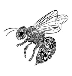 Bee animals with entangle and black vector