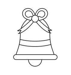 Bell with ribbon bow celebration icon image vector