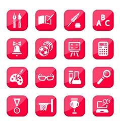 Black school icon set vector