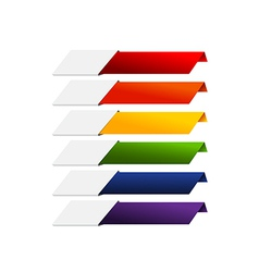 Blank Infographics colorful rainbow paper stripe vector image