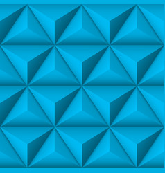 blue 3d geometric pattern with pyramids abstract vector image