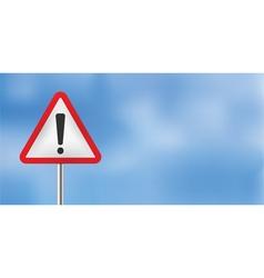 blue sky warning sign vector image