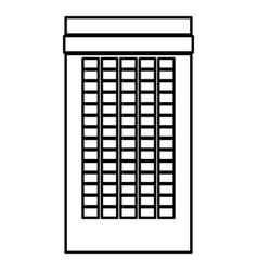 building black color icon vector image