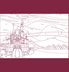 castleview coloring book vector image