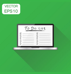 Checklist with laptop computer icon business vector