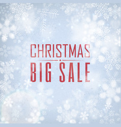 christmas big sale poster vector image