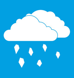 Clouds and hail icon white vector