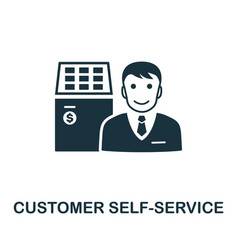 customer self-service icon symbol creative vector image