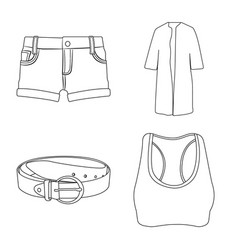 design of woman and clothing logo vector image