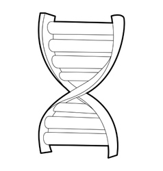 DNA strand icon isometric 3d style vector