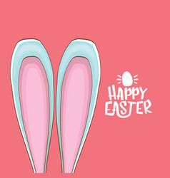 easter bunny with calligraphic text happy easter vector image