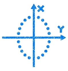 Ellipse Plot Grainy Texture Icon vector