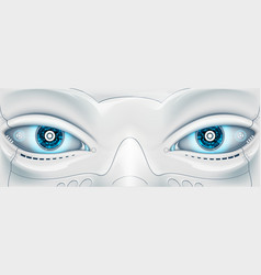 Face with eyes the robot futuristic machine stock vector