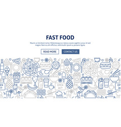 fast food banner design vector image