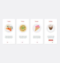 fast food cafe takeaway product menu ux ui vector image