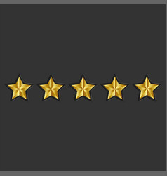 feedback 5 golden stars reputation black vector image