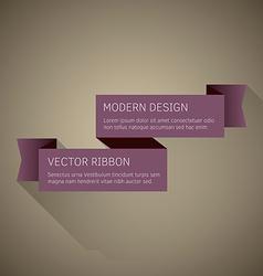 Flat Ribbon vector image