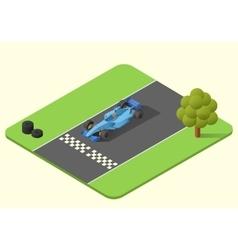 Formula one race car vector