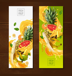 Fruity vertical banners set vector