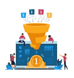 funnel leads generation inbound marketing and vector image
