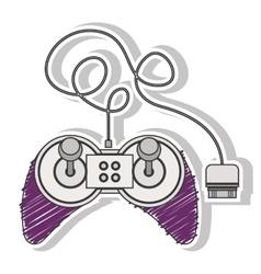 Fushia striped remote control games with joystick vector