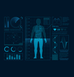futuristic medical symbols scan for web vector image