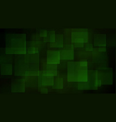 green abstract background of blurry squares vector image