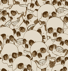 human skulls seamless background vector image