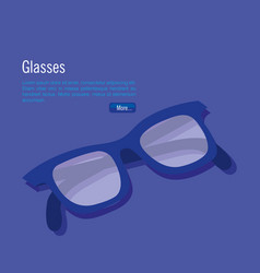 isometric eyeglasses accessory icon vector image