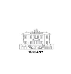 Italy tuscany medici villas and gardens line vector