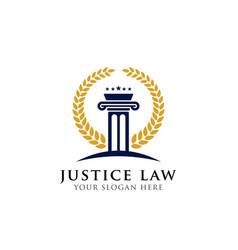 justice law logo design template vector image