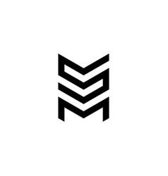 letter s m logo vector image