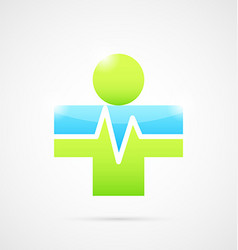Medical cross like human body vector