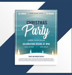 merry christmas beautiful party event flyer design vector image