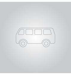 minibus icon vector image