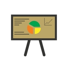 Modern flat icon bright chart diagram presentation vector image