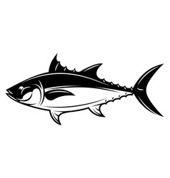 monochrome with tuna for menu vector image