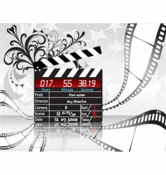 Movie director clapperboard vector