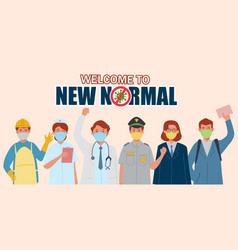 new normal before pandemic vector image