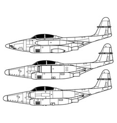 northrop f-89 scorpion vector image