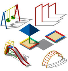 objects for children playgrounds isometry vector image