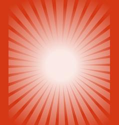 orange red burst background orange glowing warm vector image
