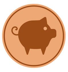piggy bronze coin vector image